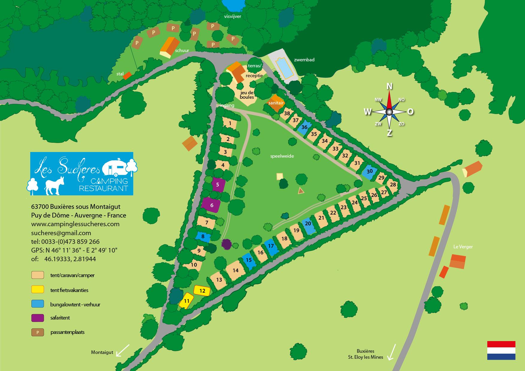 Plattegrond Camping Les Sucheres NL